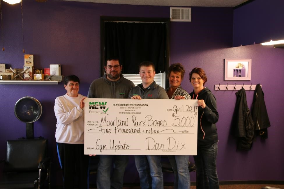 Moorland Park Board Donation