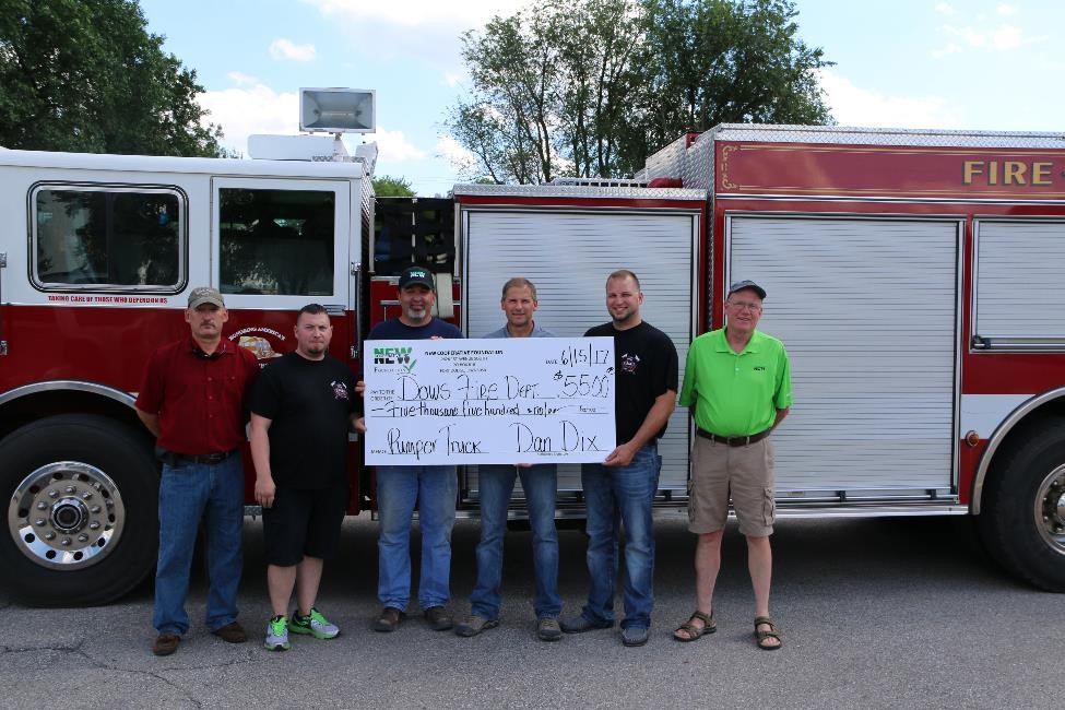 Dows Rural Fire Assocation Donation