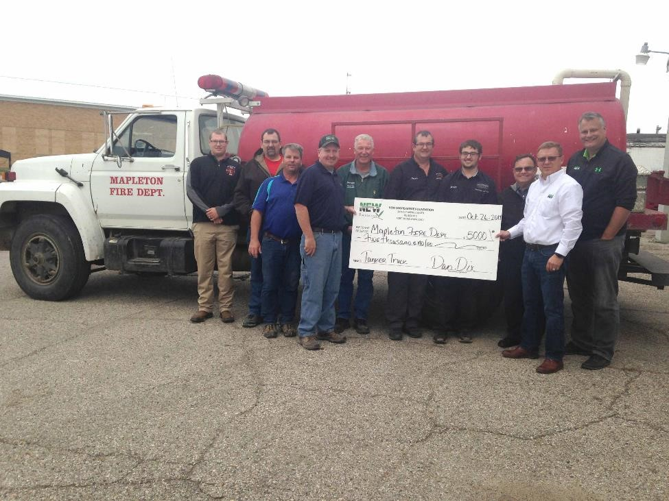 Mapleton Fire Department Donation